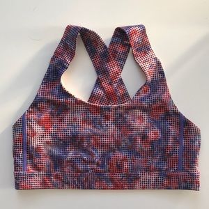 lululemon athletica Intimates & Sleepwear - Lululemon All Sport Bra 8 Checker Blooms